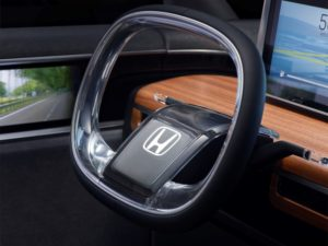 The New Steering Wheel By Honda Is Developed For Cars That Can Self-Drive